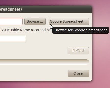 New Google Spreadsheet button