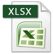 XLSX Format Supported
