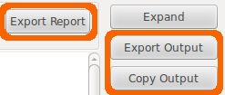 Export output buttons