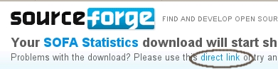 Sourceforge direct download image