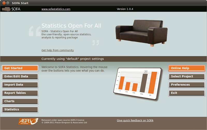 SOFA Statistics screenshot